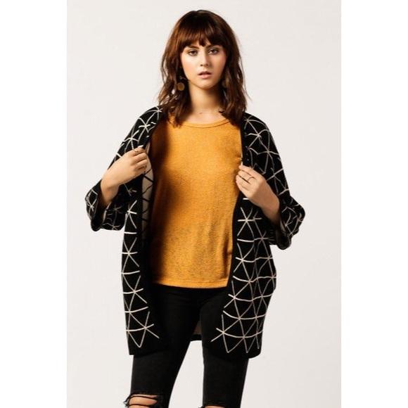 ea79322b52c63 Azalea Sweaters - Azalea Triangle Dimension Cardigan